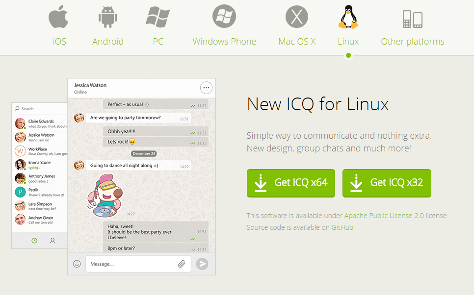 ICQ Launches Linux Version – Mail ru Group